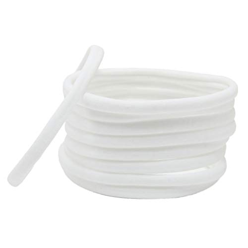 TENDYCOCO Titolari di Ponytail Corda di Capelli Senza Cuciture Capelli Elastici per Bambini 10pcs (Bianco)