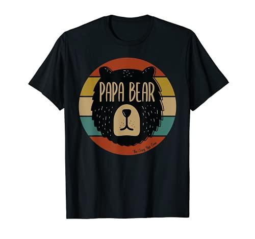 Uomo Papa Bear - Orsetto in stile vintage retrò Maglietta