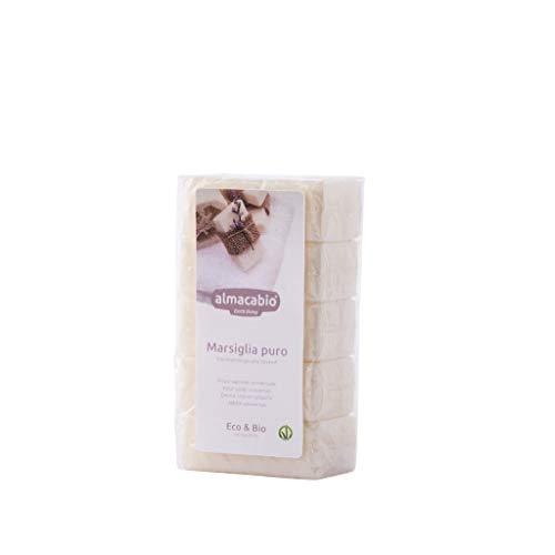 Almacabio Marsiglia Puro 5 Saponette da 100 Grammi Eco-Bio-Vegan, 500 Grammi