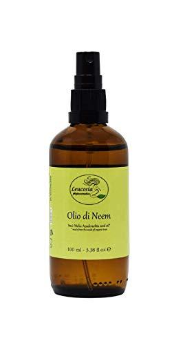 Olio di Neem - 100% Puro e Biologico dall'odore pungente. Spremuto a freddo. Ideale per pelli secche e capelli sfibrati.