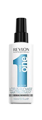 Revlon Uniq One - All in One Lotus Spray senza Risciacquo Trattamento Capelli Profumo Fiori di Loto
