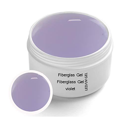 UV Fibreglass Viola transparente 30 ml - Linea Premium Gel - finitura, corporatura, adesivo con protezione giallastra