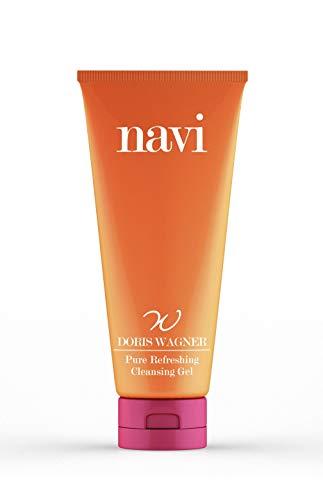 NAVI Pure Refreshing Cleansing Gel | Detergente alla Vitamina E | Pulizia del Viso Delicata, Struccante Make-Up, Astringente Pori Dilatati, Idratante, Illuminante, Anti-Acne, 125 ml