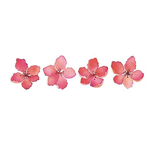5 fogli di fiori di pesco petali di ciliegio impermeabile duraturo senso femminile antico dipinto clavicola adesivi tatuaggio temporaneo