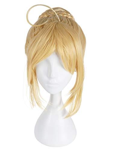 CoolChange Parrucca di Saber per i Fan di Fate | bionda con Chignon