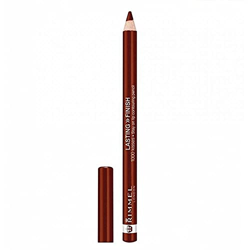 (3 Pack) RIMMEL LONDON Lasting Finish 1000 Kisses Stay On Lip Liner Pencil - Coffee Bean