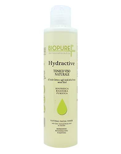 Hydractive Tonico Viso naturale agli acidi della frutta - Tonifica con effetto astringente – Confezione da 200ml