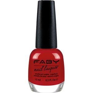 FABY NAILS - Smalto Faby's Red - Rosso Puro - Smalto Lunga Tenuta - 100% Vegan, Cruelty Free - Senza DBP, Toluene, Formaldeide, Resina di Formaldeide e Canfora - 15 ml