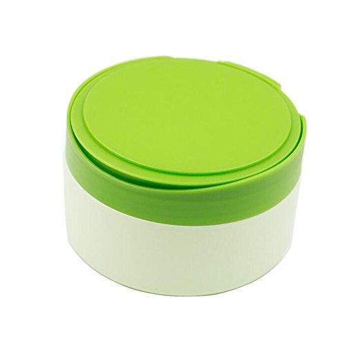 Upstore - Contenitore in plastica per piumino da cipria per bambini, portatile, ricaricabile, con colino e piumino per borotalco, colore: verde