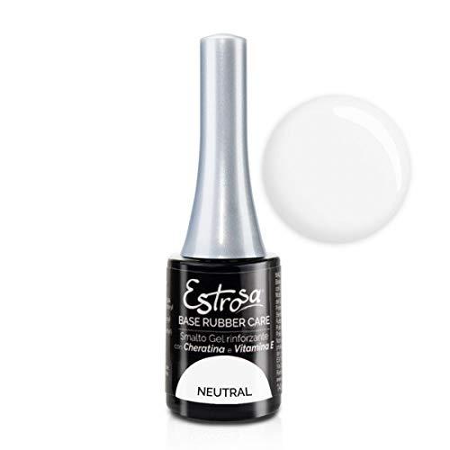 Estrosa 7043 Gel Polish Base Rubber Care Neutral Smalto Gel Semipermanente 14 ml + Omaggio semipermanente 10 ml