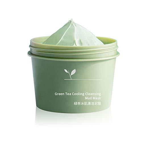YOUNGE Lubrificante per la pulizia del viso idratante, tè verde, fango di pulizia di alta qualità per donne | Smearing Moisturizing Cleansing Face Cover Green Tea Cooling Mud