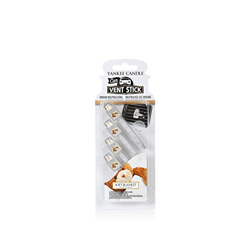 Yankee Candle Profumatore per Auto Car Vent Stick, Soft Blanket, 1
