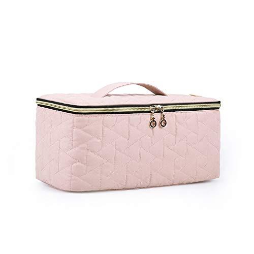 BAGSMART Beauty Case Donna Trousse Make Up Grande Porta Trucchi da Viaggio per Cosmetici, Pennello con uno Specchio, Divisore Regolabile