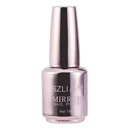 Luxshiny Smalto per Unghie Colori Metallizzati Smalto per Unghie Effetto Specchio Smalto per Unghie Gel Lucido per Manicure (2 Oro Champagne)