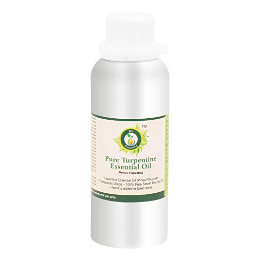 R V Essential Olio Essenziale Di Trementina Puro- 300ml (10oz) Pinus Palustris (100% Puro e Naturale Steam Distilled) Pure Turpentine Essential Oil