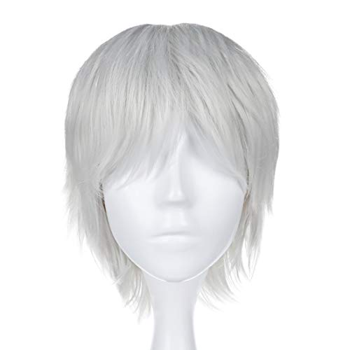 CoolChange Parrucca di Ken Kaneki della Serie Tokyo Ghoul, Bianca