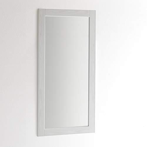 ARHome Specchiera Parete 120 x 60 Bianco Frassinato, Specchio Parete Muro, Made in Italy