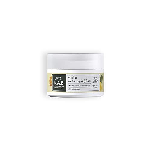 N.A.E. Balsamo Corpo Vitalità, Crema Idratante Corpo con Estratti di Foglie di Limone e Mandarino Biologici, Formula Vegana, 200 ml