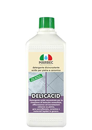 Marbec - DELICACID 1LT | Detergente disincrostante acido delicato per pietre e ceramica