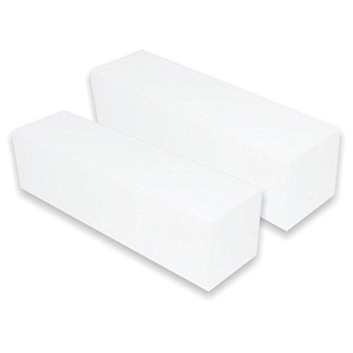 Nailfun Confezione da 2 lime per unghie, grana 100, colore: bianco