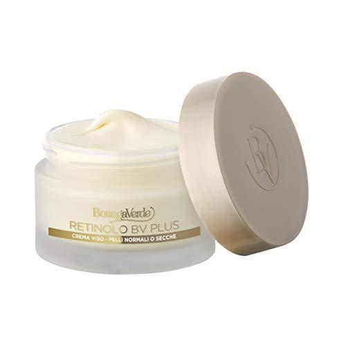 Retinolo Bv Plus - Crema viso - antietà, elasticizzante - con Pro-Retinolo, Collagene vegetale e acido laluronico (50 ml) - pelli normali o secche