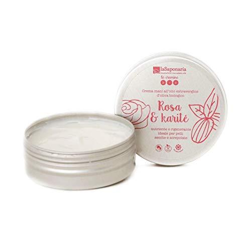 LA SAPONARIA Crema Mani Rosa e Burro di Karitè (Mani e Piedi) / Hand Cream - Rosa and Shea Butter (Mani e Piedi)