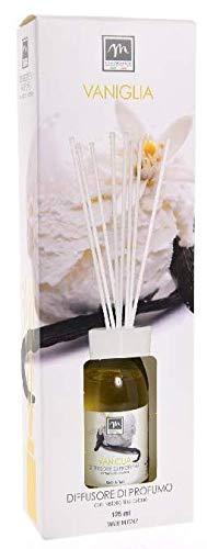 GIRM® - ME16460 Diffusore d'Essenza con Bastoncini in Cotone Aroma Vaniglia ml 125