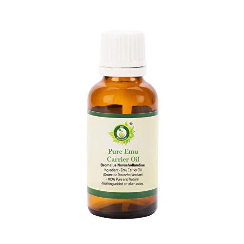 Olio Emu | Dromaius Novaehollandiae | Per massaggio | Per crescita dei capelli | Crema idratante naturale | Non raffinato | Per il viso | Per la pelle | Emu Oil |50ml | 1.69oz By R V Essential