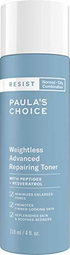 Paula's Choice Resist Tonico Viso Riparatore Antietà - Riduce i Pori Dilatati, le Rughe e Idrata la Pelle - con Niacinamide e Acido Ialuronico - Pelli Miste o Grasse - 118 ml