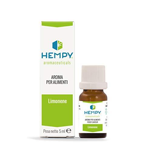 HEMPY LIMONENE- L'Aroma dell'Energia- terpene puro dell'olio essenziale di Limone, agrumi e finocchio. 5 ml