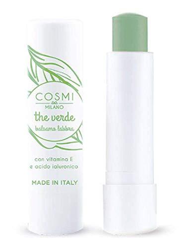Balsamo Per Le Labbra Rossetti E Burrocacao Antirughe ● Cosmetici Bellezza Per Uomo E Donna ● 3,5 ml Made in Italy (The Verde)