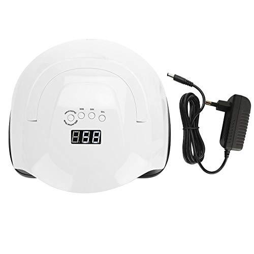 80W Lampada Unghie, Lampada UV LED Essiccatore per Unghie con 4 Impostazioni del Timer e Sensore per Professionale e Salone