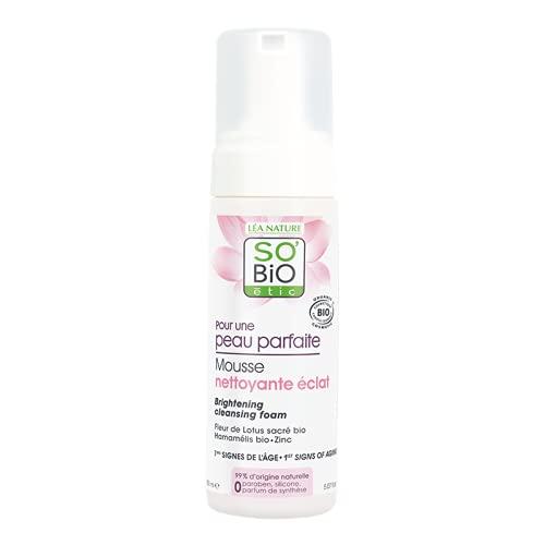 So'Bio étic Mousse detergente schiarente per una pelle perfetta, 150ml