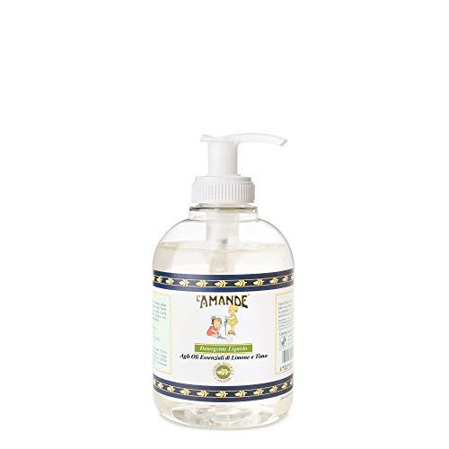 L'Amande Detergente Liquido Oli Esssenziali Limone e Timo - 300 ml