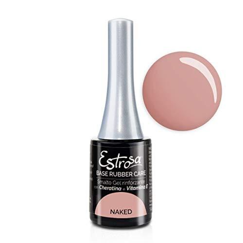 Estrosa 7035 Gel Polish Base Rubber Care Naked Smalto Gel Semipermanente 14 ml + Omaggio semipermanente 10 ml