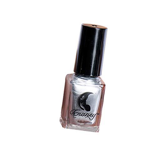 Smalto per unghie metallizzato, effetto specchio, 6 ml, asciugatura rapida, per donna, colore: argento