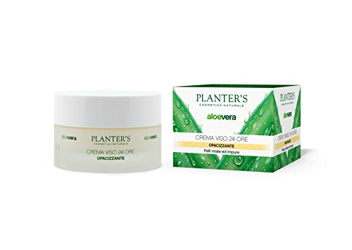 Planter's - Crema viso opacizzante all'Aloe Vera, 24 ore, 50 ml