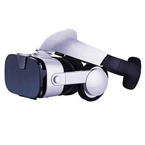 Nuova Edizione Occhiali VR Occhiali Virtuali 3D Compatibile con tutti gli Smartphone come Samsung,Android, Huawei da 4,5 a 6,3 Pollici (White)