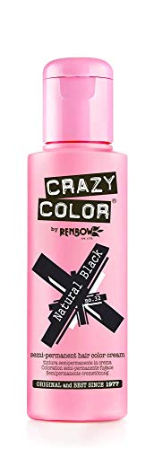 Crazy Semi permanente per capelli, colore: nero, 100 ml, naturale