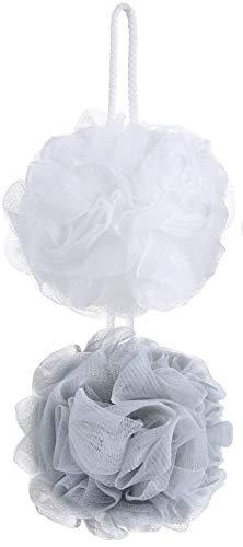 Confezione da 2 spugne da doccia in maglia di luffa, esfolianti per il corpo, in rete, per doccia, per uomini e donne