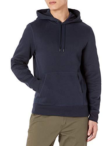 Amazon Essentials Hooded Fleece Sweatshirt Felpa, Blu (Navy), Large