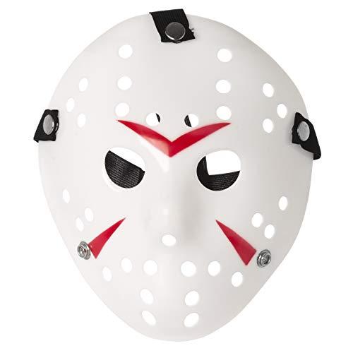 Bianco e Rosso Sofisticato Costume Jason X vS Freddy Halloween Venerdì 13 Maschere Hockey Adulti PVC Elastico Cinturino Di Qualità Maschera di Halloween Cosplay Killer Costume Horror Prop