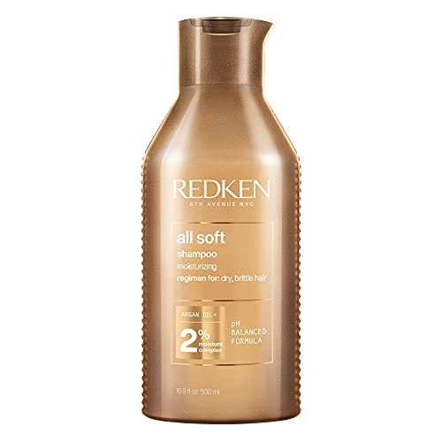 Redken All Soft Shampoo Professionale | Capelli Secchi Fragili | Formula professionale per capelli secchi e fragili, deterge delicatamente e dona idratazione e morbidezza | 500 ml