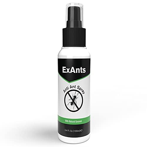 ExAnts Spray Anti Formiche - Repellente Naturale Antiformiche per Casa e Giardino - Spray Formiche a Base di Geraniolo, Olio di Neem e di Lavanda, 100 ml