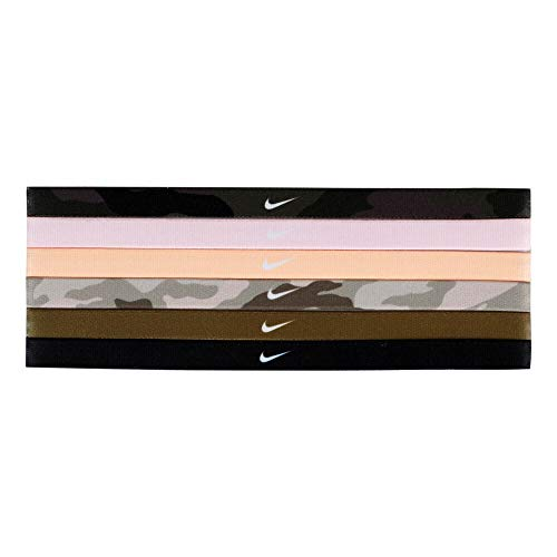 Nike Haarband Set, Fascia per Capelli Unisex-Adulti, 986 Nero/Rosa Foam/Arancione Gesso, Taglia Unica