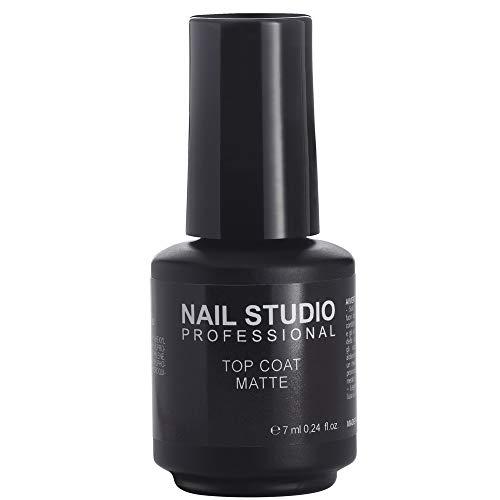 Nail Studio - Top Coat Matte - Top Coat Per Smalto Semipermanente Con Finish Opaco - Formato 7 ml