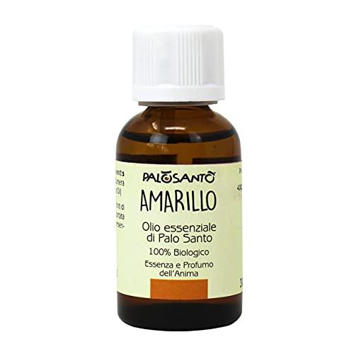 Olio Essenziale di Palo Santo Amarillo - 100% naturale ed Originale per Aromaterapia - Olio di Palo Santo ideale per Diffusore ad Ultrasuoni - Qualità sciamanica - 30 ml