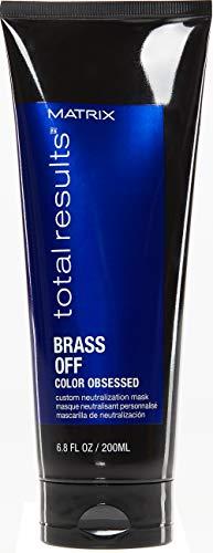 Matrix - Total Results Brass Off Maschera Neutralizzante Anti Arancio per Capelli Castani, 200 ml