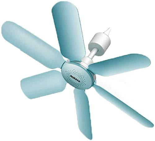 Knoijijuo 16 Mini Piccolo Ventilatore Tetto, ABS Ventilatore di Plastica Blu Soffitto Ha, A Distanza Silenzioso Ventilatore Temporizzazione Luce, Interno Mobile Portatile