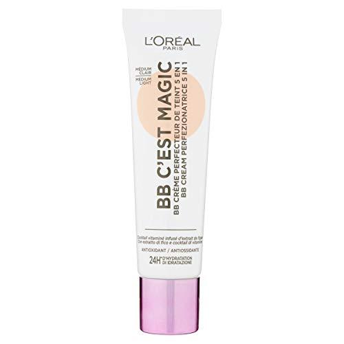 L'Oréal Paris BB Cream C'est Magic, BB Cream Idratante e Uniformante, Colore 03 Medium Light